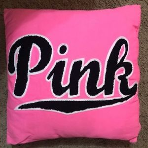 "PINK/VS stitched ""PINK"" Throw Pillow NWOT"